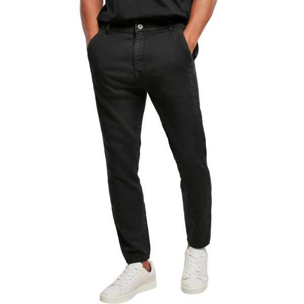 Urban Classics - Knitted Chino Denim Hose schwarz