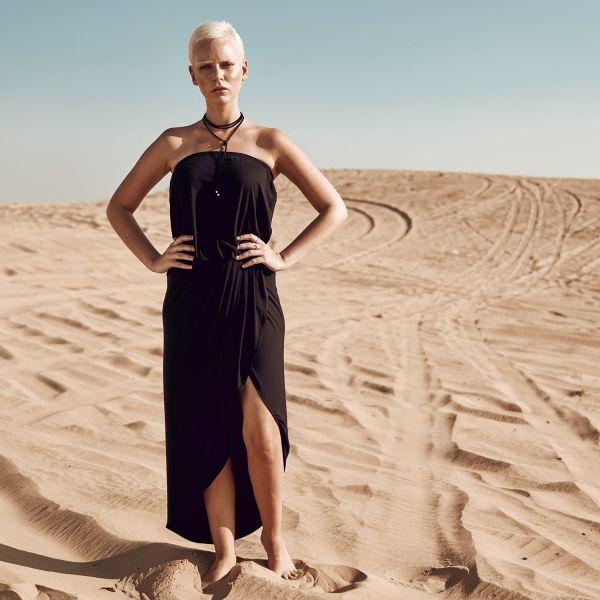 Urban Classics Ladies - Viscose Bandeau Dress paleleaf