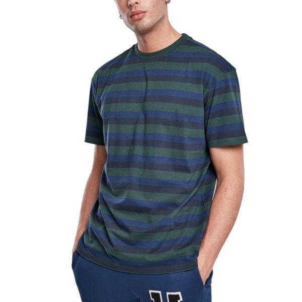Urban Classics - College Stripe bottlegreen / navy