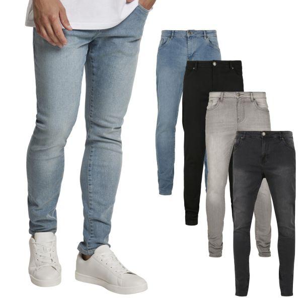 Urban Classics - Slim-Fit Stretch Denim Jeans mid grey