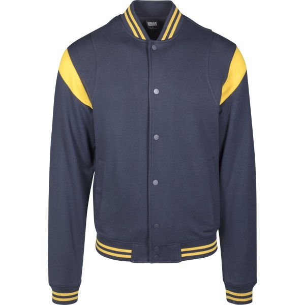 Urban Classics - INSET College Sweat Fleece Jacke