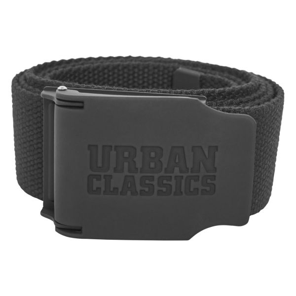 Urban Classics - CANVAS Rubbered Touch Ceinture grey camo