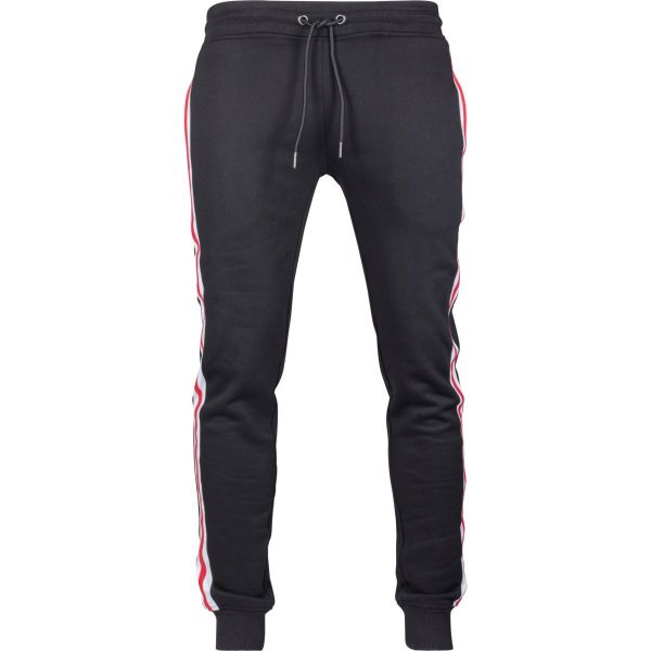 Urban Classics - Side Stripe Terry Sweatpants rouge