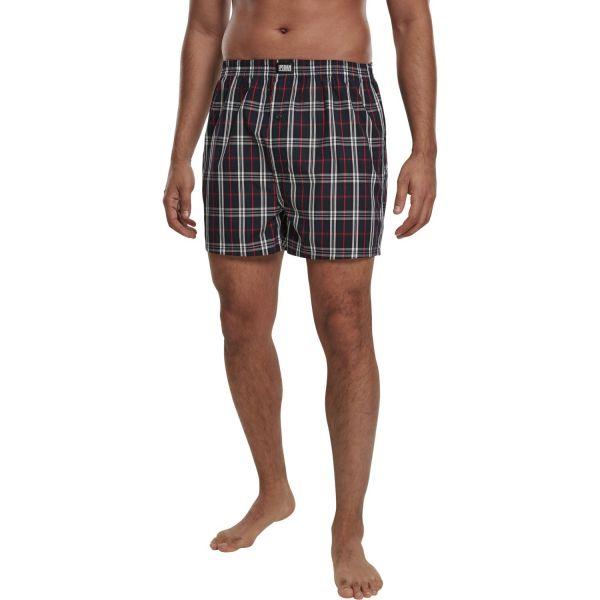 Urban Classics - Woven Plaid Boxer Shorts 2er Packe