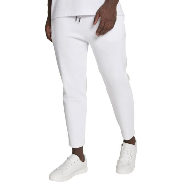 Urban Classics - Cropped Heavy Pique Pants weiß