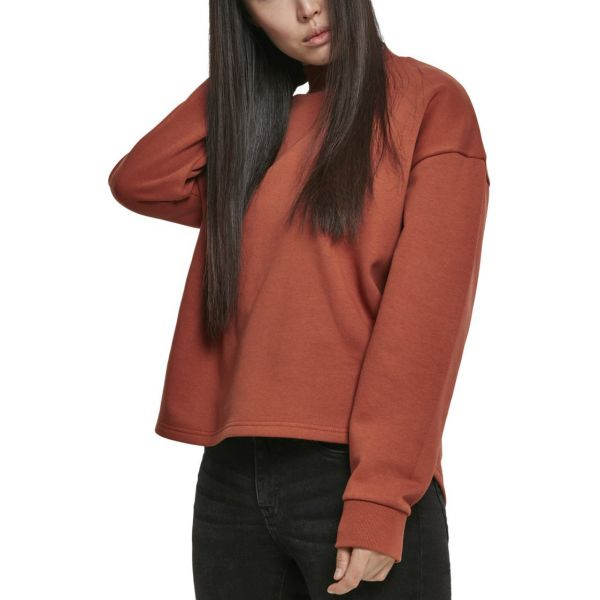 Urban Classics Ladies - Oversized High Neck Crew rust