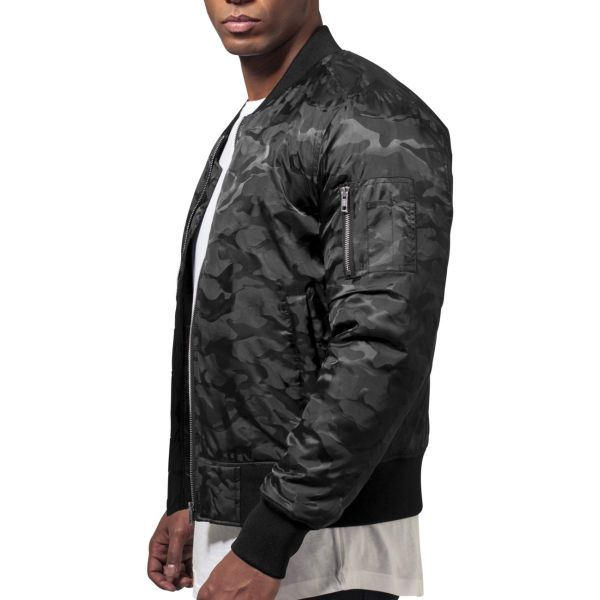 Urban Classics - TONAL CAMO Bomber Jacket stone grey