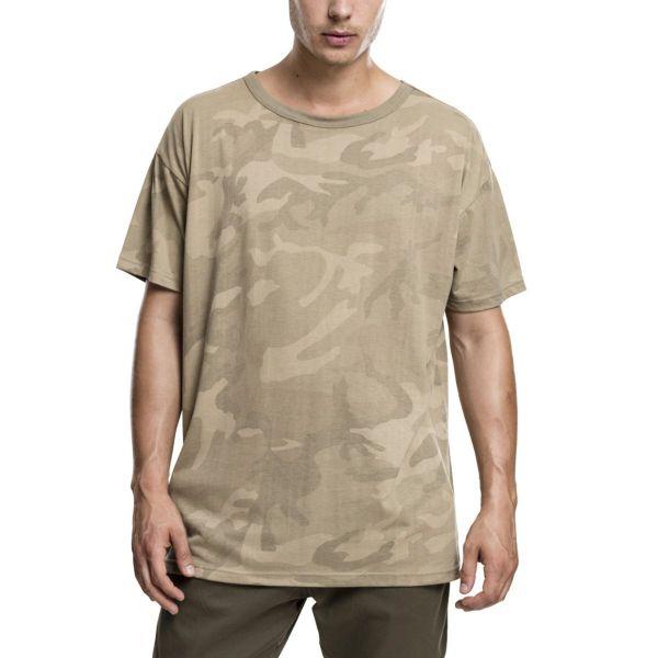 Urban Classics - Oversized Shirt sand camo