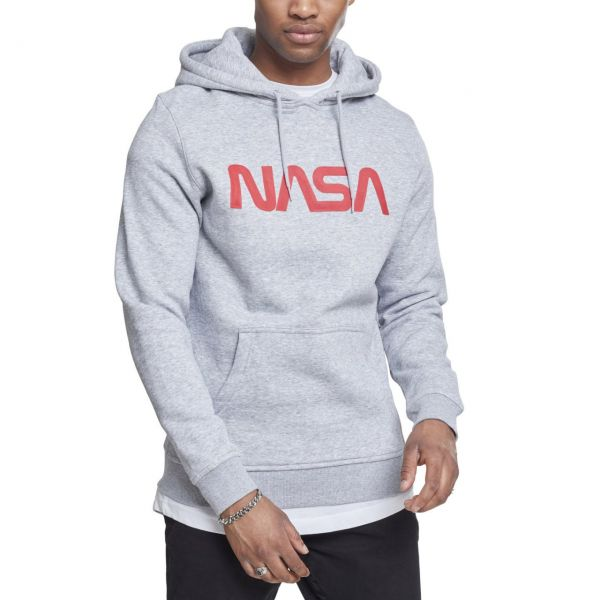 Mister Tee Hoody - NASA WORM Logo heather gris