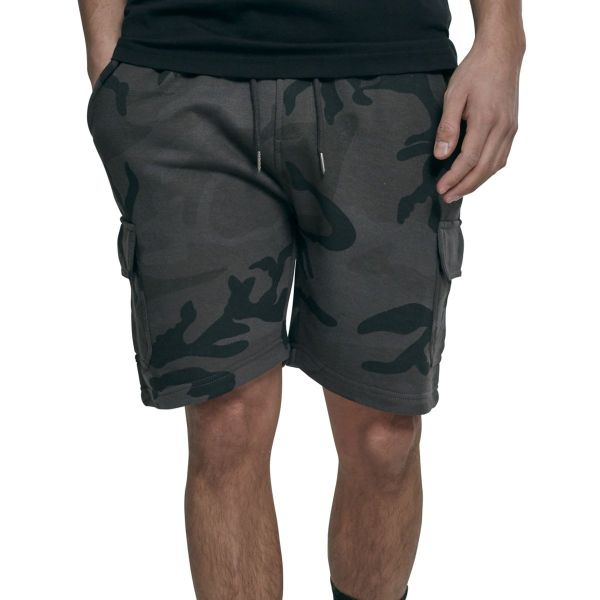 Urban Classics - CARGO Terry Sweat Shorts dark camo