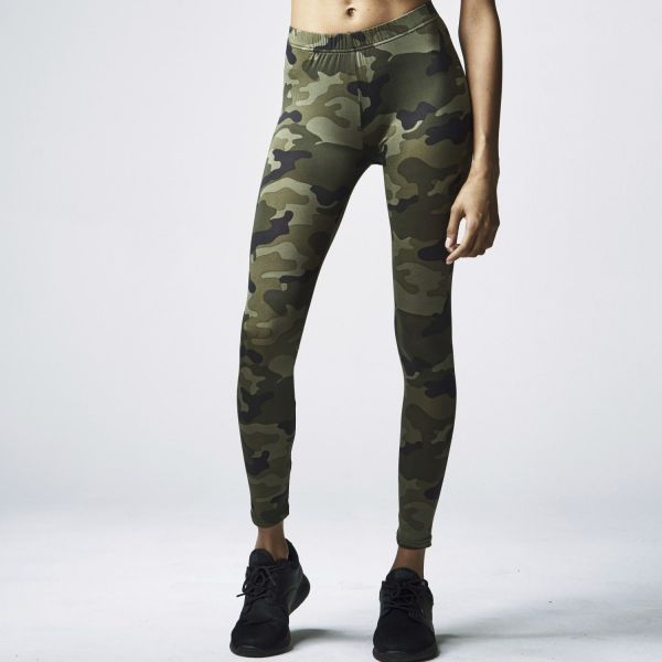 Urban Classics Ladies - CAMO Army Tarn Stretch Leggings