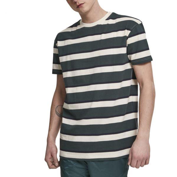 Urban Classics - Oversized Block Stripe Shirt beige / bottle