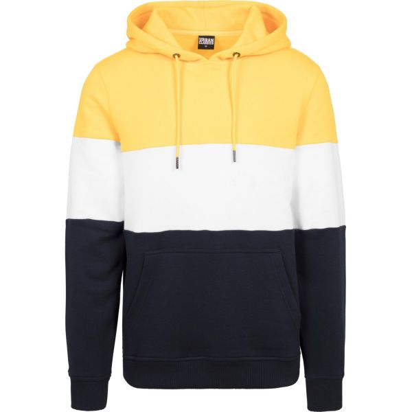 Urban Classics - 3-TONE Fleece Loose-Fit Hoody