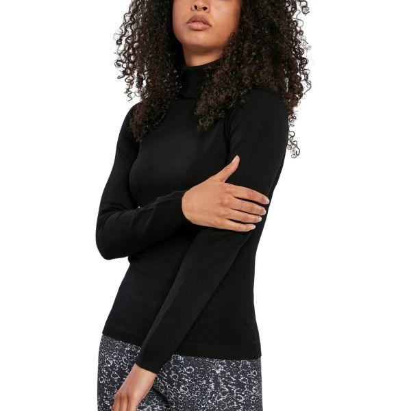 Urban Classics Ladies - Basic Turtleneck Sweater Pullover