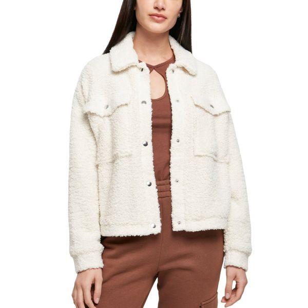 Urban Classics Ladies - SHERPA Trucker Jacket offwhite beige