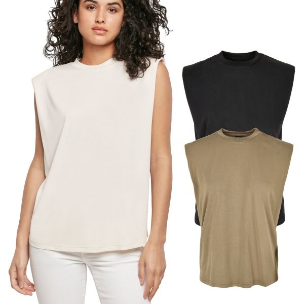 Urban Classics Ladies - Modal Padded Shoulder Shirt