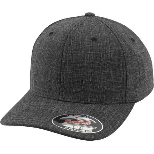 Flexfit FINE MELANGE Stretchable Curved Cap - schwarz