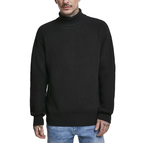 Urban Classics - Cardigan Stitch Roll Neck Sweater grey