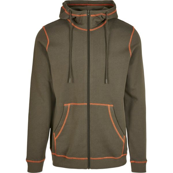 Urban Classics - Organic Flatlock Stitched Zip Hoody