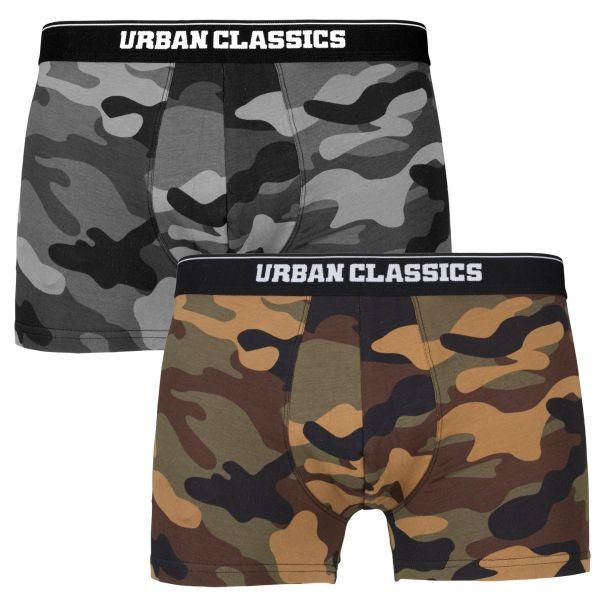 Urban Classics - Boxer Shorts Unterhose 2er Pack camo