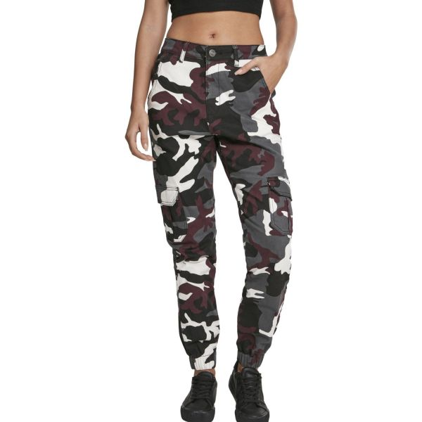 Urban Classics Ladies - High Waist Stretch Cargo Pants dark