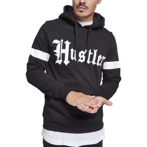 Merchcode Fleece Hoody - Hustler STRIPE noir