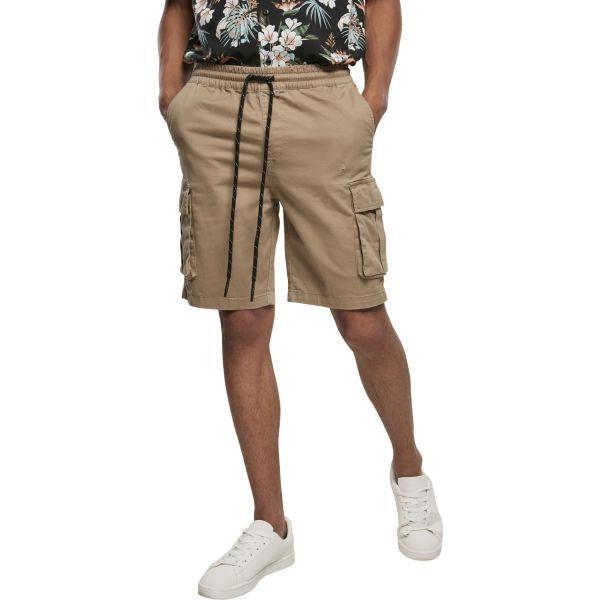 Urban Classics - Drawstring Cargo Stretch Shorts black