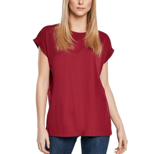 Urban Classics Ladies - Organic Extended Shirt burgundy