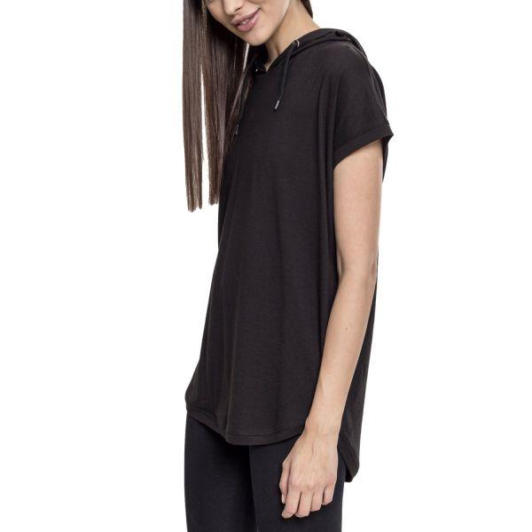 Urban Classics Ladies - Sleeveless Jersey Hoody noir