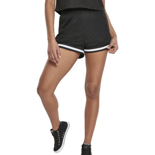 Urban Classics Ladies - MESH Shorts Hot Pants schwarz