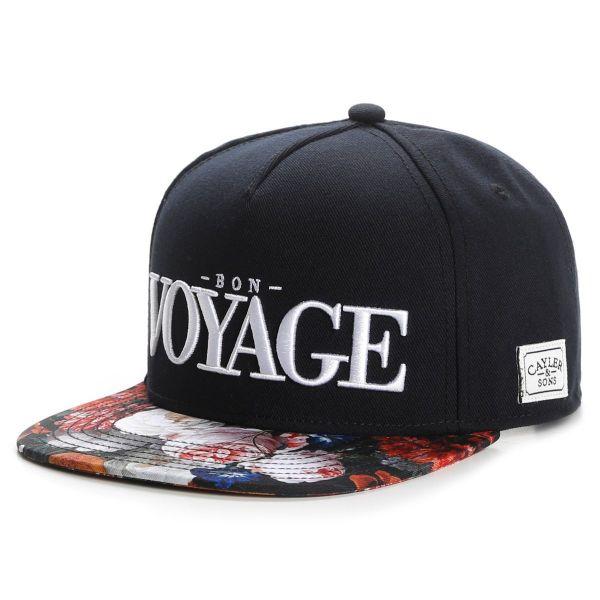 Cayler & Sons Snapback Cap - BON VOYAGE schwarz / rose