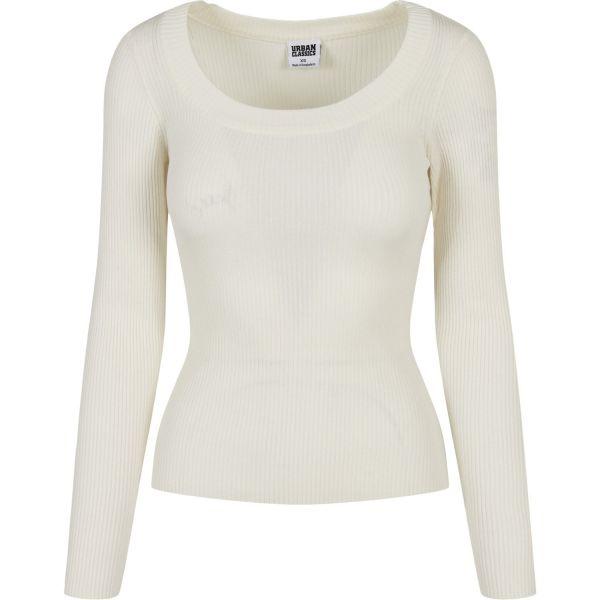 Urban Classics Ladies - Wide Neckline Sweater Pullover