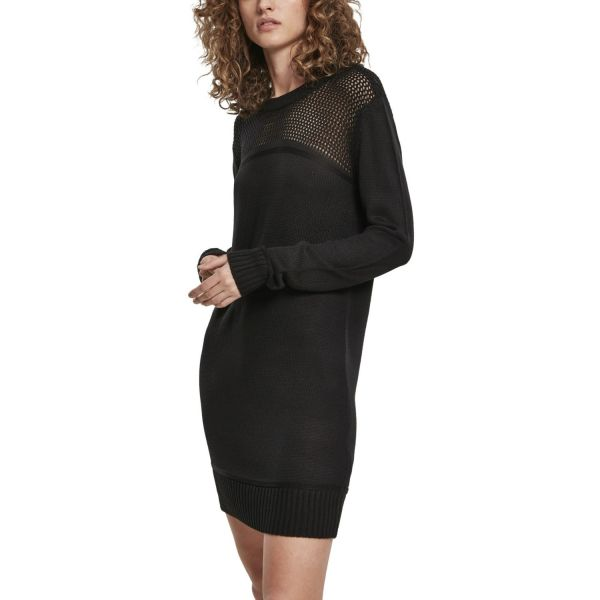Urban Classics Ladies - Light Knit Robe noir