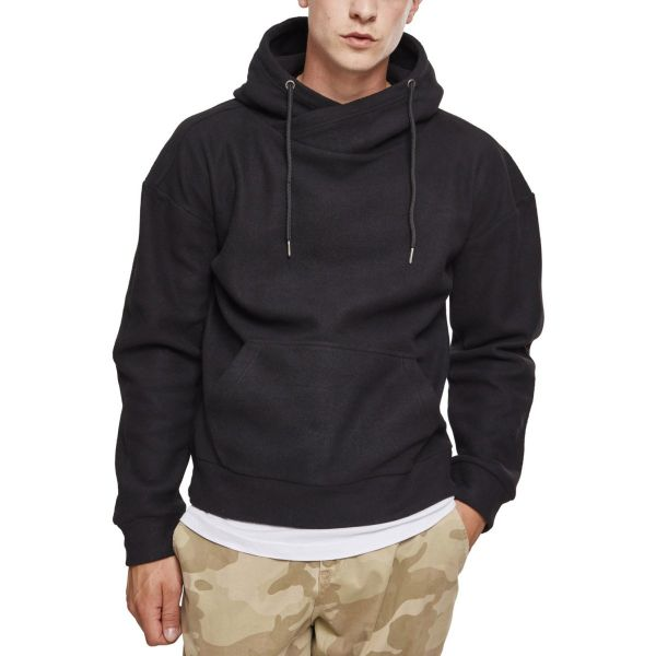 Urban Classics - Polar Fleece High Neck Hoody black