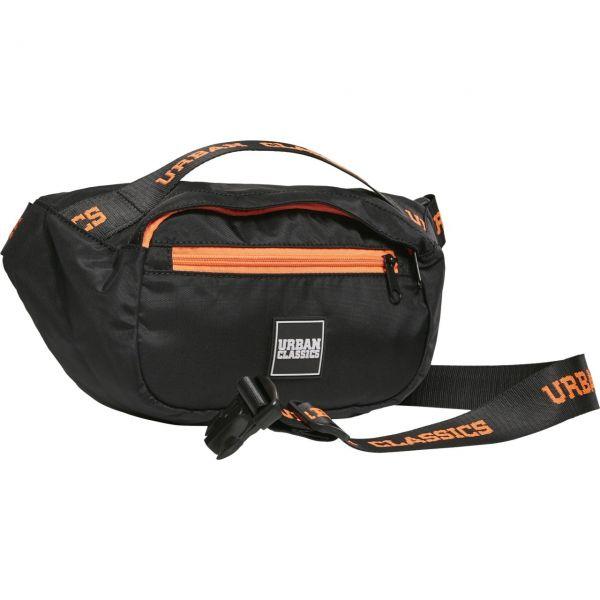 Urban Classics - BASIC Schultertasche schwarz / orange