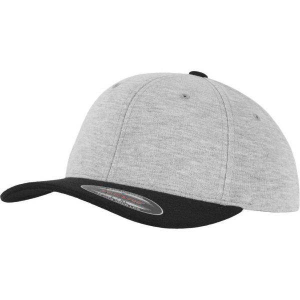 Flexfit DOUBLE JERSEY Stretchable Cap - grey / black