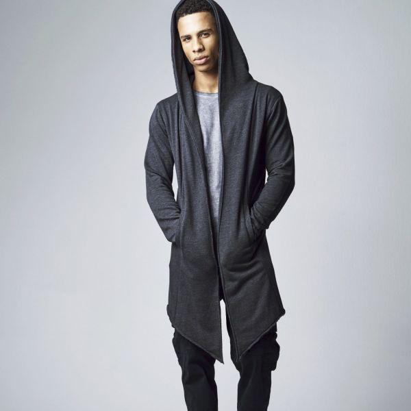 Urban Classics - OPEN EDGE LONG Cardigan black