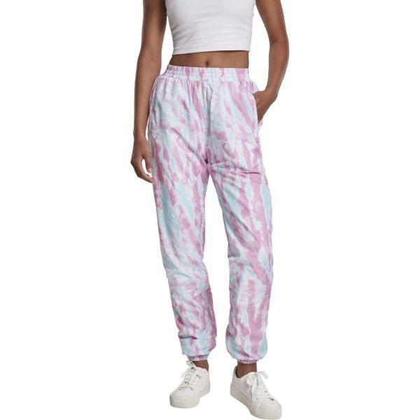 Urban Classics Ladies - Tie Dye Track Pants aqua pink