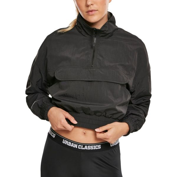 Urban Classics Ladies - Crinkle Pull Over Windbreaker Jacke