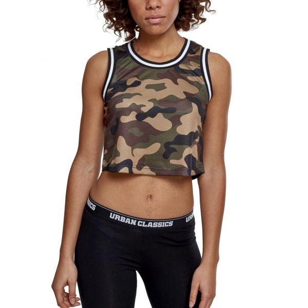 Urban Classics Ladies - Cropped Mesh Tank Top