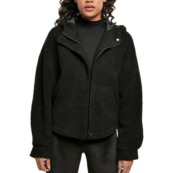 Urban Classics Ladies - Short Sherpa Jacke schwarz