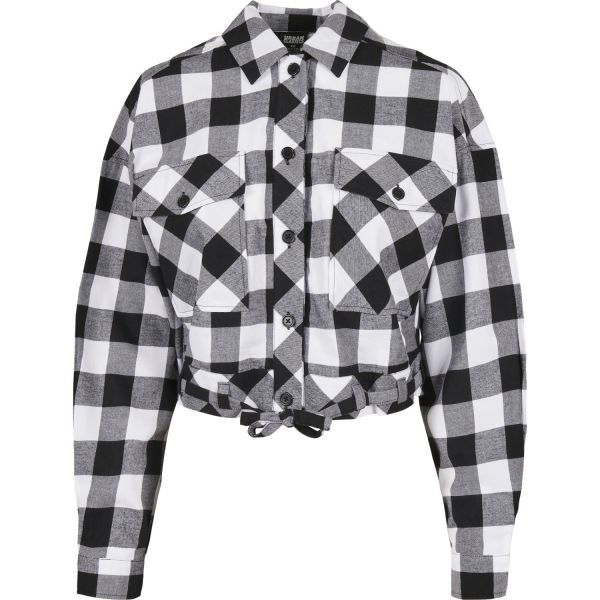 Urban Classics Ladies - Short FLANELL Holzfäller Hemd Shirt