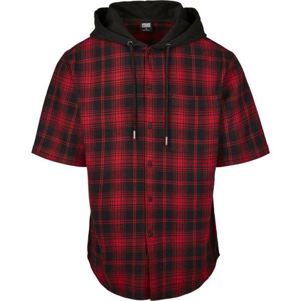 Urban Classics - FLANELL Hooded Short Sleeve Karohemd Shirt