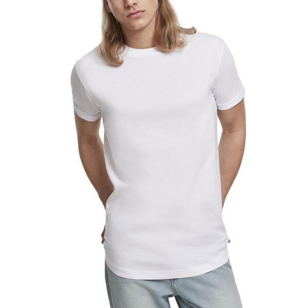 Urban Classics - Short Shaped Turn Up Shirt black