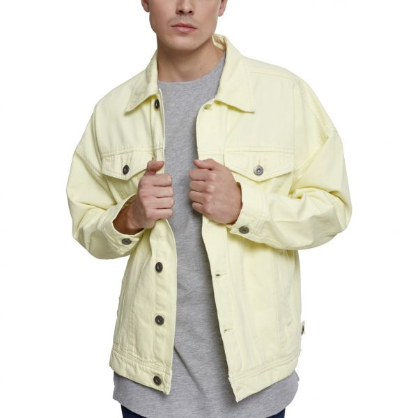Urban Classics - Oversize Garment Denim Veste powder jaune