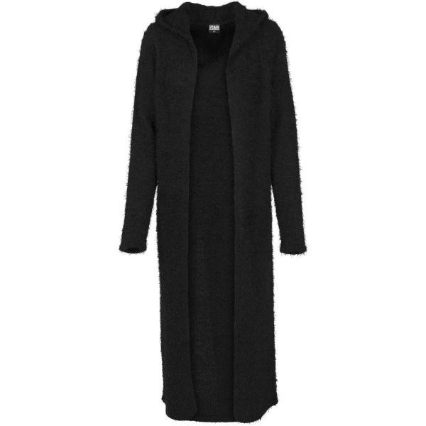 Urban Classics Ladies - Hooded Feather Long Cardigan