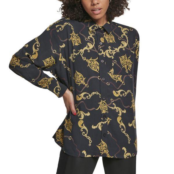 Urban Classics Ladies - Oversize Bluse Hemd luxury schwarz