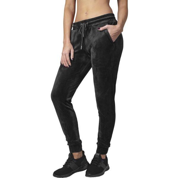Urban Classics Ladies - VELVET Sweatpants schwarz