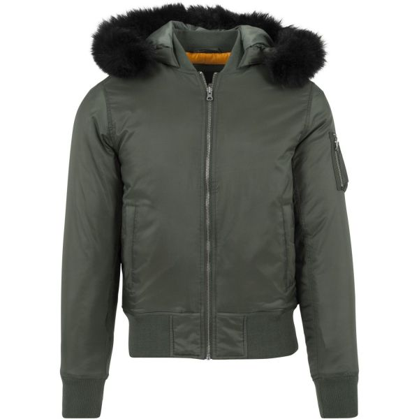 Urban Classics - HOODED BOMBER Winter Jacket black