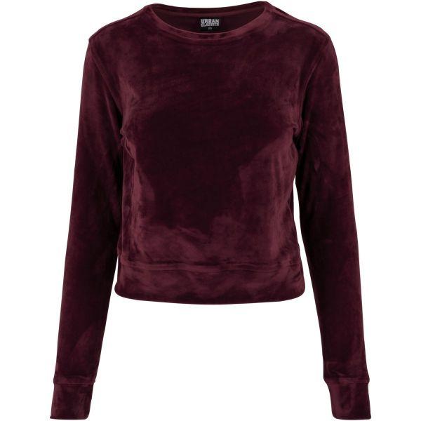 Urban Classics Ladies - VELVET Velours Short Sweater